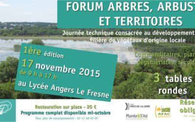 Forum Arbres, arbustes et territoires au Fresne