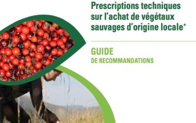 Edition du guide CCTP de fourniture de végétaux sauvages d'origine locale