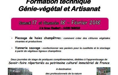 Plessage de haies champêtres, formation les 17 et 18 février à Barcus