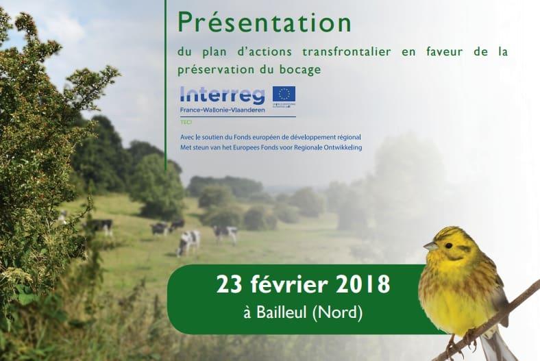 Présentation du plan d'actions transfrontalier en faveur de la préservation du bocage à Bailleul