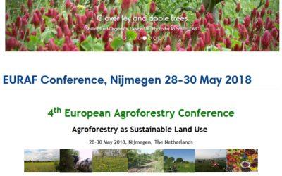 Conférence européenne d'agroforesterie, au Pays-Bas, 28-30 mai 2018
