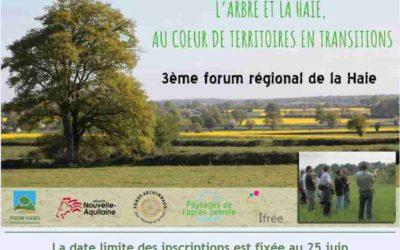 3ème forum régional de la haie, jeudi 5 juillet
