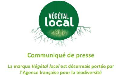 La marque Végétal local est désormais portée par l'Agence française pour la biodiversité
