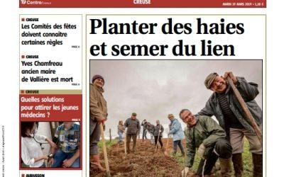 Un chantier participatif de plantation de haies à la Une de la Montagne