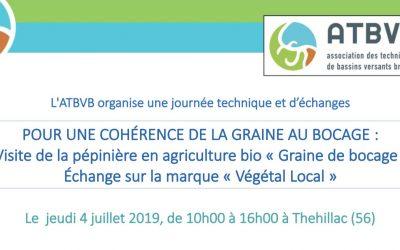 Journée technique : Pour une cohérence de la graine au bocage – 4 juillet 2019 à Thehillac (56) 🗓 🗺
