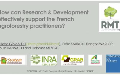 RMT AgroforesterieS : besoins de R&D et questions prégnantes de recherche des acteurs de terrains de l'agroforesterie en France