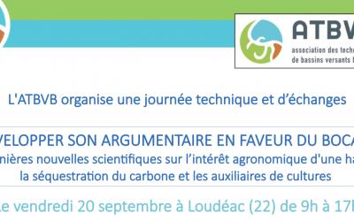 Journée technique et d'échanges : Développer son argumentaire en faveur du bocage | ATBVB – le 20 septembre à Loudéac (22) 🗓 🗺