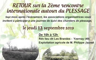 Retour sur la 2ème rencontre internationale autour du Plessage – le 12 septembre à Yzernay (49) 🗓 🗺