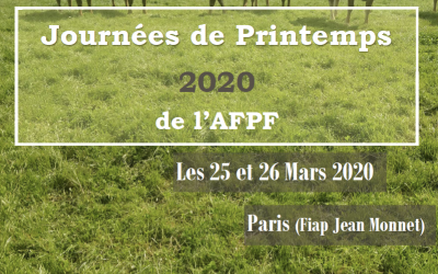 """Journées de printemps de l'AFPF : """"Produire des Fourrages demain dans un contexte de changements climatiques"""" – les 25 et 26 mars 2020 à Paris 🗓"""