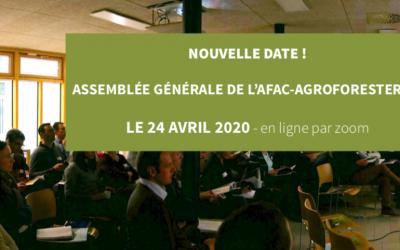 AG de l'Afac-Agroforesteries : le 24 avril 2020 – par conférence en ligne 🗓