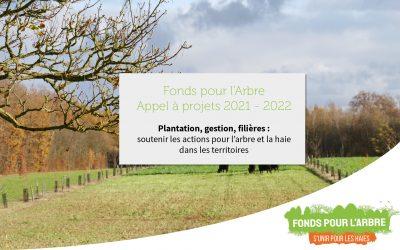 Fonds pour l'Arbre : publication de l'appel à projets 2021-2022 (anciennement programme Plantons en France)