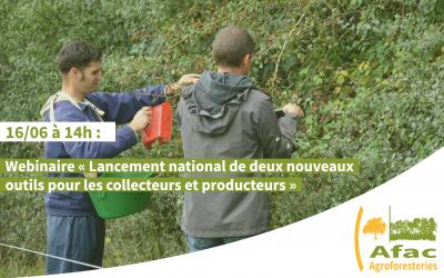 """Webinaire """"Lancement national de deux nouveaux outils pour les collecteurs et producteurs"""" – 16/06 – 14h00 à 15h30"""